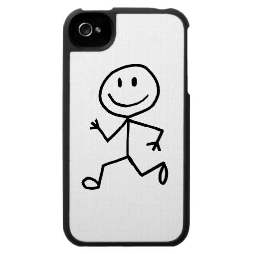 Stickman Runner iPhone 4 Cases