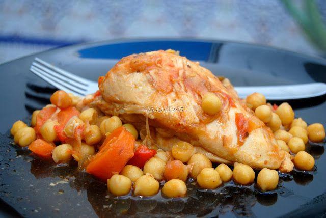 Asopaipas. Recetas de Cocina Casera .: Pollo Guisado con Garbanzos ( Kotopoulo Kokinisto ...