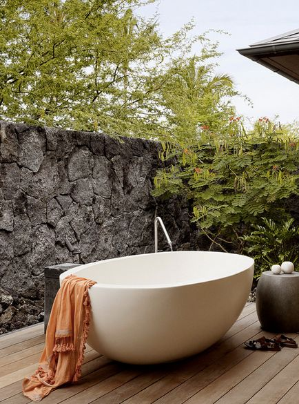 28 reasons to consider an outdoor bathtub  on domino.com