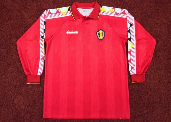 Check Out This Item In My Etsy Shop Https Www Etsy Com Uk Listing 731234618 Vintage Belgium Home Football S Classic Football Shirts Football Shirts Mens Tops
