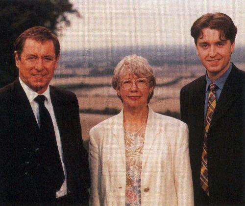 John Nettles, Caroline Graham, and Daniel Casey