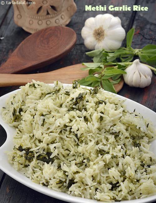 Methi Garlic Rice