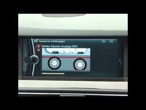 BMW Animierte Erklarungen: Reifen Pannen Anzeige - YouTube