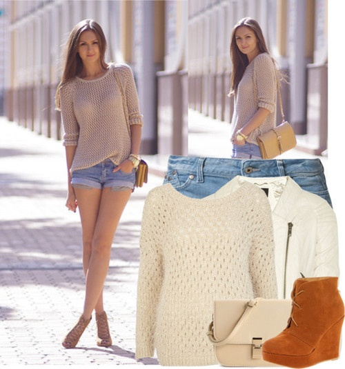 LOOKBOOK.nu by justyna28012000 featuring an open-knit sweater