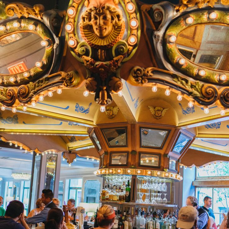 Take a little spin and sip something sweet at the Carousel Bar in New Orleans. #NOLA