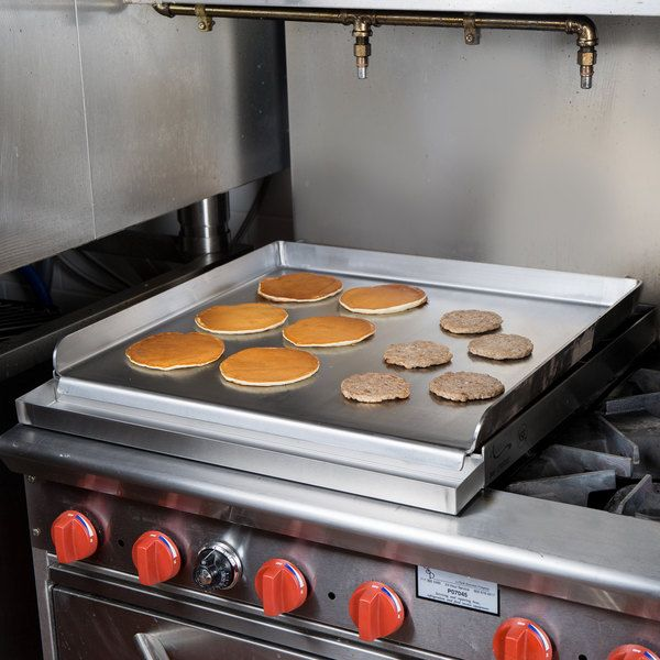 Avantco 24 X 27 X 4 Add On 4 Burner Griddle Top Cooking Area Outdoor Kitchen Appliances Griddles