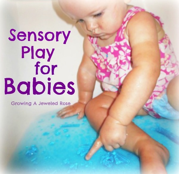 Jello Ocean Sensory Play- great for babies who are still tasting everything!
