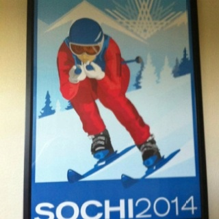 Art deco Sochi 2014 Winter Olympics poster (via Lindsey Vonn). Add Around The Rings on www.Twitter.com/AroundTheRings & www.Facebook.com/AroundTheRings for the latest info on the Olympics.