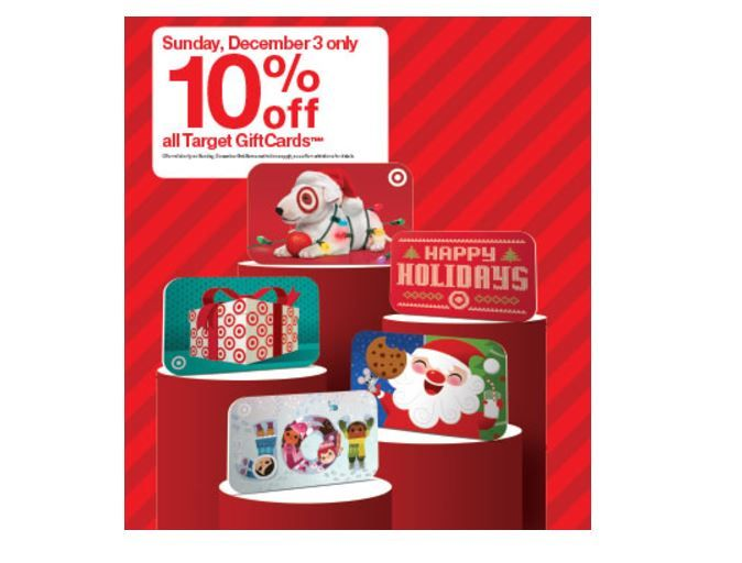 Take 10% Off Target Gift Cards! Think stocking stuffers and saving on your own essentials!   Details: https://momswhosave.com/2017/11/take-10-off-target-gift-cards.html/  #deals #Target #gifts