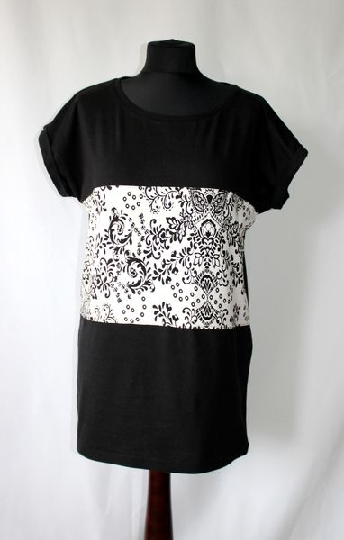 RoomStyle Bluzka Czarna Ornament L w RoomStyle na DaWanda.com