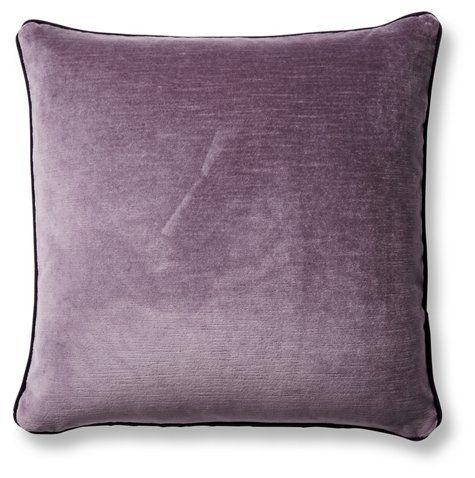 Eliza 20x20 Pillow Aubergine Mauve Velvet In 2020