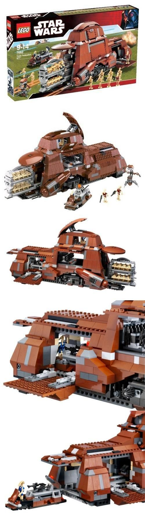 Lego Star Wars Set #7662 Trade Federation MTT, When the Trade Federation MTT shows up, it's time for the enemy to start running! Open its hatches and extend the secret storage rack to deploy a legion of battle droids, armed and ready to fight. Top..., #Toys, #Building Sets