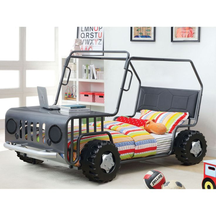 Furniture Of America Jones Gun Metal SUV Youth Bed   Overstock™ Shopping    Great Deals On Furniture Of America Kidsu0027 Beds