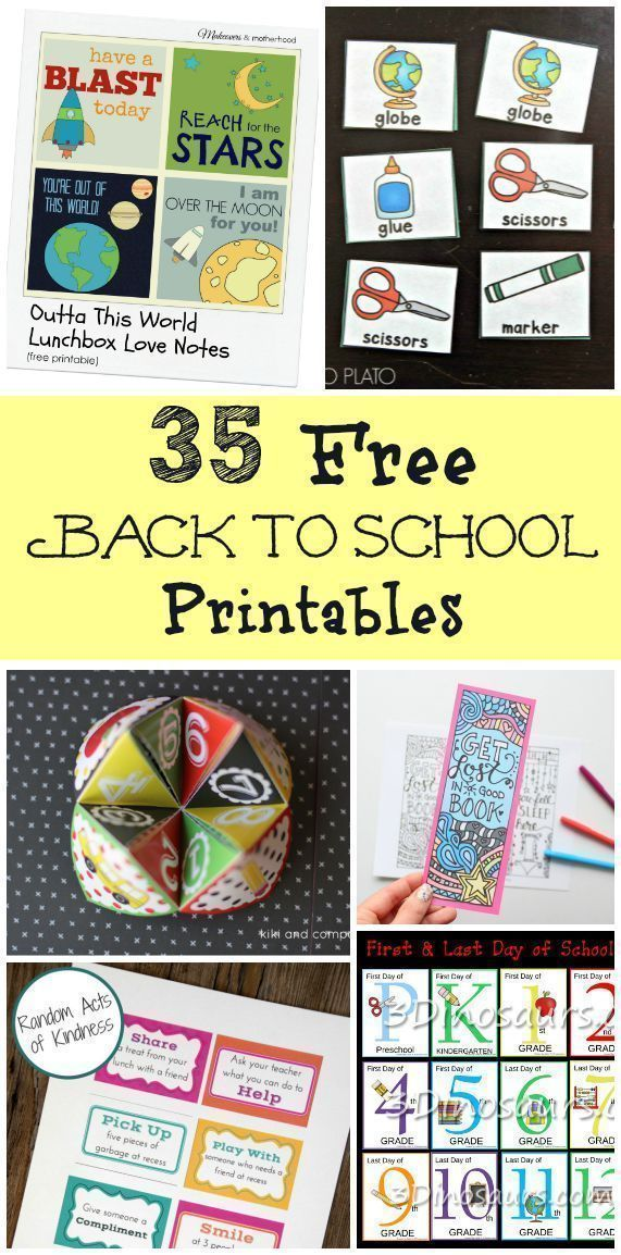 35 Free Back to School Printables+#back_to_school_bulletin_boards #back_to_schoo… – Back To School