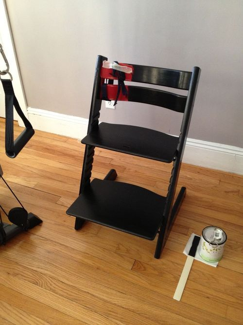 repainting stokke 39 s tripp trapp high chair diy craft. Black Bedroom Furniture Sets. Home Design Ideas
