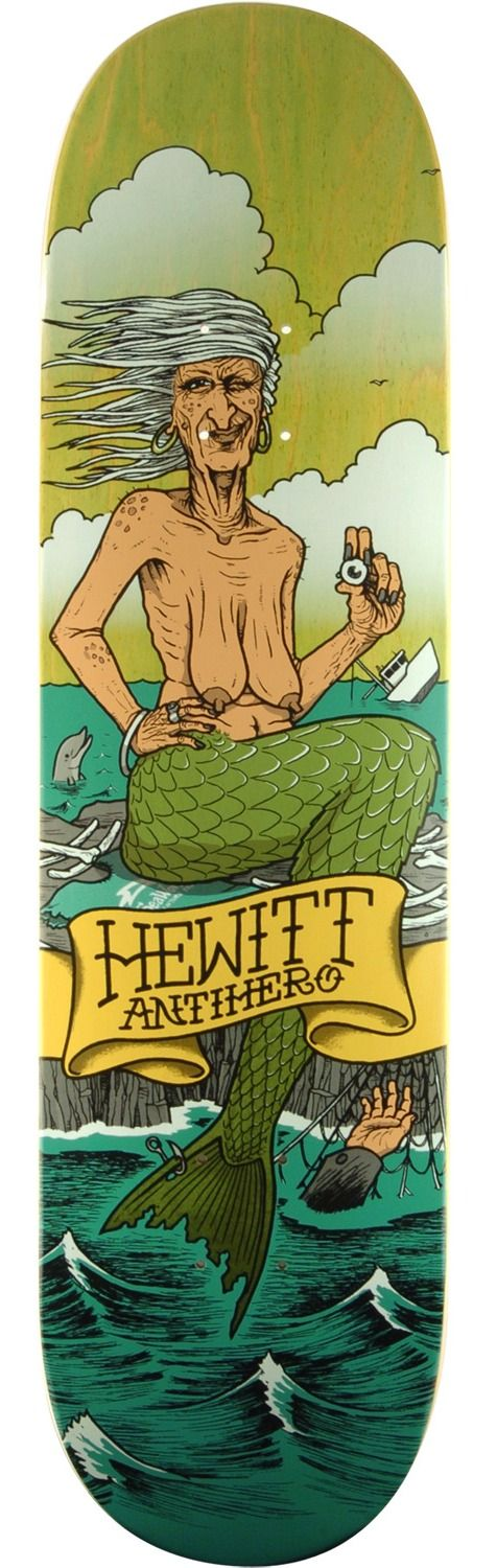 Anti Hero Skateboards Peter Hewitt Sea Hags Skateboard