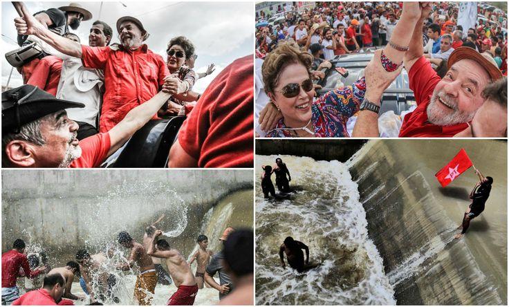 O ex-presidente não escondeu seu orgulho em ter mudado essa realidade. Hoje, existe até uma universidade federal no semi-árido. Além da transposição, Lula e Dilma entregaram mais de 1,2 milhão de cisternas, que já garantiam abastecimento digno para 4,5 milhões de sertanejos. Foi um conjunto de programas que, aliado ao emprego e à alta dos salários, mudaram a face do Nordeste, como lembrou o governador Ricardo Coutinho em sua fala.    L