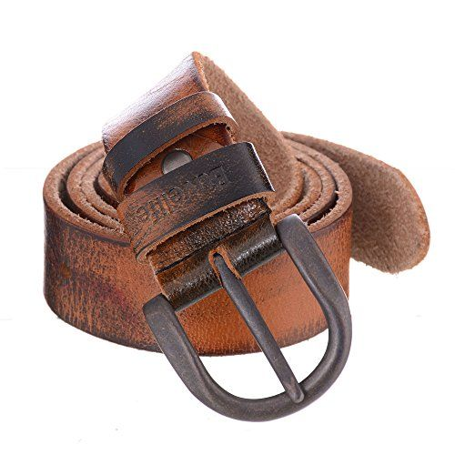 Buvelife Men's Vintage Leather Belt 100% Genuine Leather ...