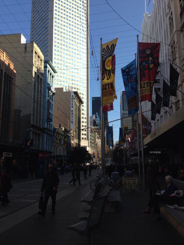Bourke Street Mall in Melbourne.