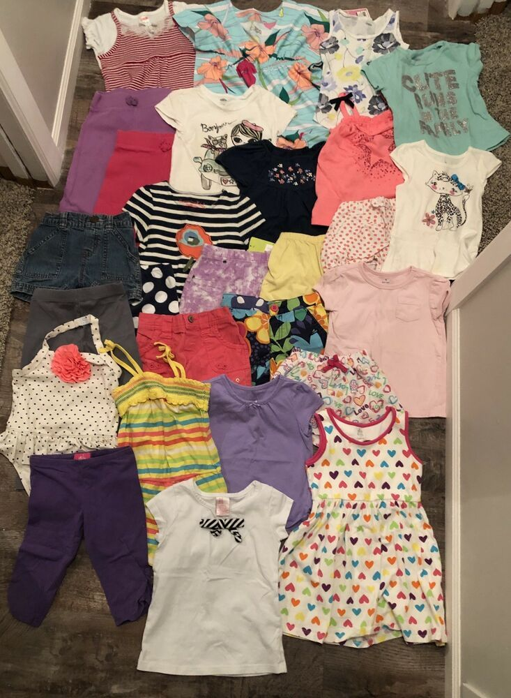 ab7b14db5f0 3T Little Girl Lot Of Summer Clothes! 27 Total Pieces! Used But Very Cute