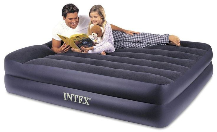 Queen Size #AirBed #Pillow #Rest Raised #Electric #Pump #Bedroom #Sleep #Camping
