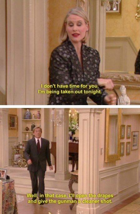 "His shots were deadly. | Community Post: 10 Times Niles From ""The Nanny"" Threw The Best Shade"