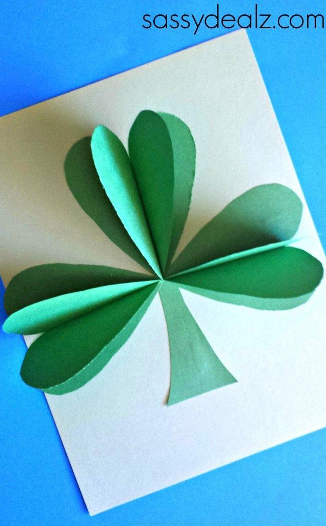 3D Paper Shamrock Craft For St. Patrick's Day - Sassy Dealz