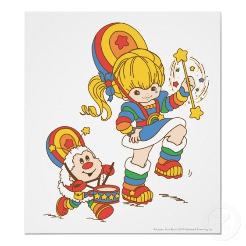 Rainbow Brite- my Granny made me the most awesome Rainbow Brite costume when I was in first grade!