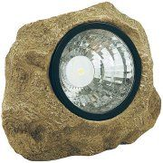 Moonrays 91211 Solar Powered LED Rock Spotlight Garden Accent with Hidden Key Compartment Image 1 of 2
