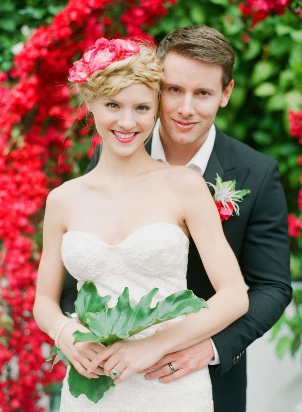 Rue Magazine Summer Wedding Inspiration.  Wedding makeup by www.artistrybydanika.com  Romantic bridal makeup.  Pretty pink lips and porcelain skin.