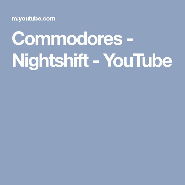 Commodores - Nightshift - YouTube