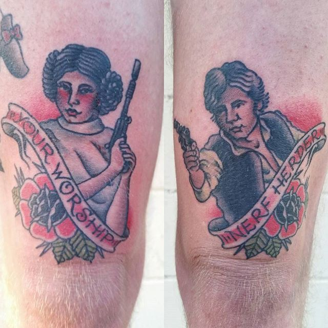 Pin for Later: 35 Star Wars Tattoos That Are Outta This World Leia and Han