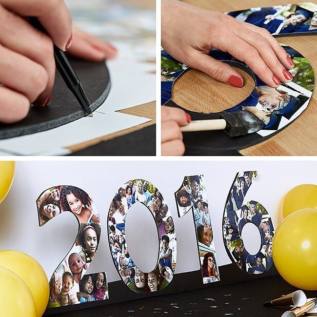 Make this DIY Graduation Photo Collage Display for a surefire conversation piece at the grad party. Link in profile. by walgreens