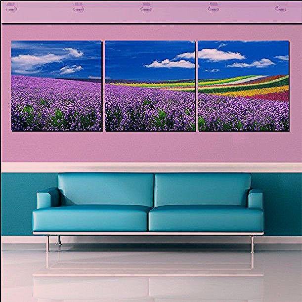 رخيصة حار 3 لوحة الساخن بيع الحديثة جدار اللوحة ديكور المنزل الفن صورة زيت على قماش يطبع ساحرة الأرجواني ال Canvas Decor Cheap Paintings Oil Painting Landscape