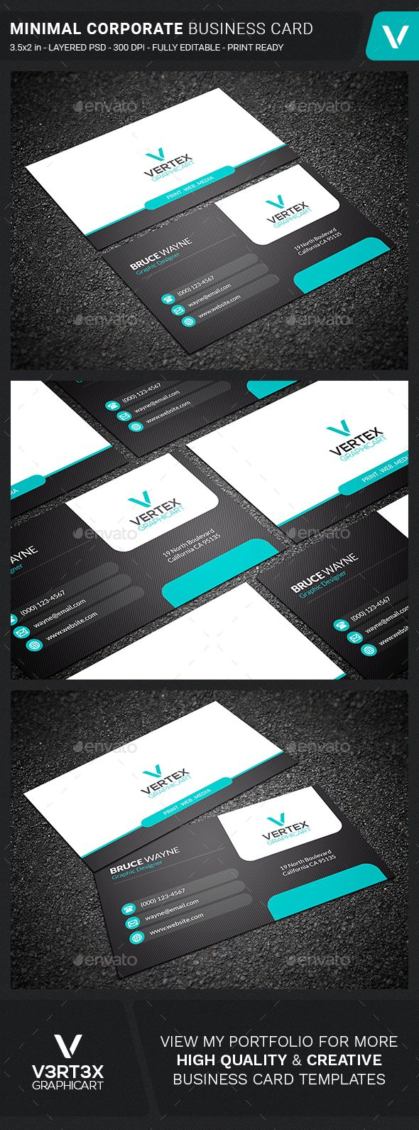 Minimal Corporate Business Card Template PSD. Download here: https://graphicriver.net/item/minimal-corporate-business-card/17370705?ref=ksioks