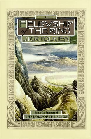 The Fellowship of the Ring, by J.R.R. Tolkien. From The Lord of the Rings Trilogy. Click on the cover to read the review by Chris.