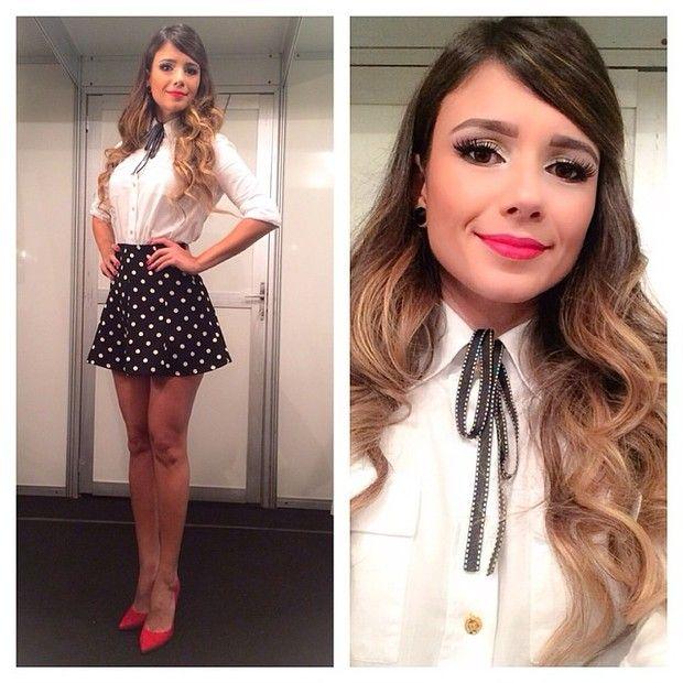 Paula Fernandes antes de show em Louveira, São Paulo (Foto: Instagram/ Reprodução)
