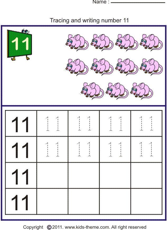 writing number 11.   Writing numbers, Numbers preschool ...