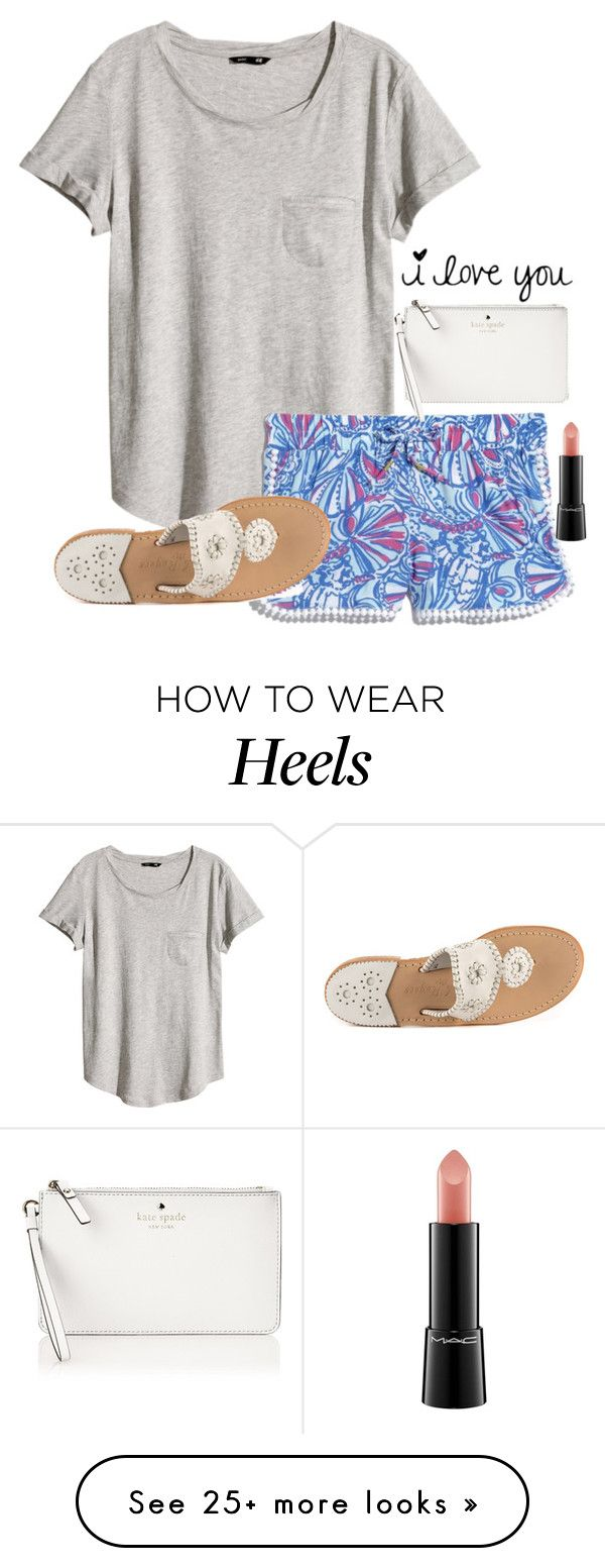 """Set for Jules!"" by toonceyb on Polyvore featuring H&M, Lilly Pulitzer, Jack Rogers, Kate Spade and MAC Cosmetics"