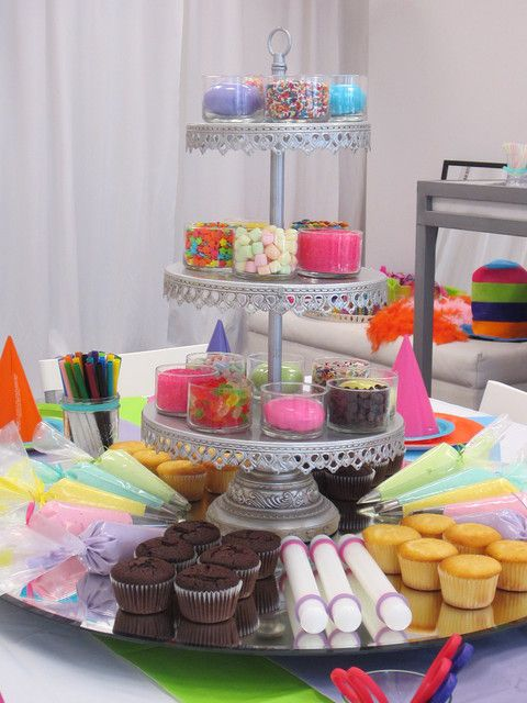 """Photo 6 of 6: rainbow, colors / Birthday """"Cupcake decorating party photoshoot"""" 