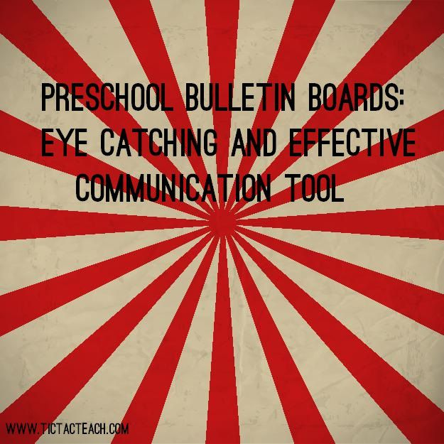 Preschool bulletin boards are a great way to communicate with parents about what is happening in the preschool and the community.  There is so much that you can do with a preschool bulletin board – get creative!