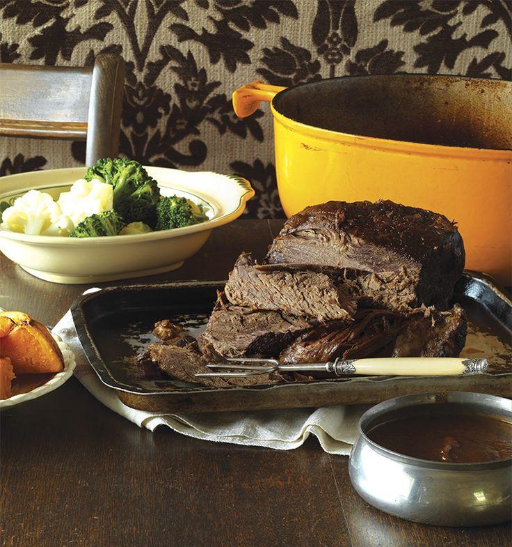 A Tender Slow-roasted Beef with Fail-safe Flourless Gravy