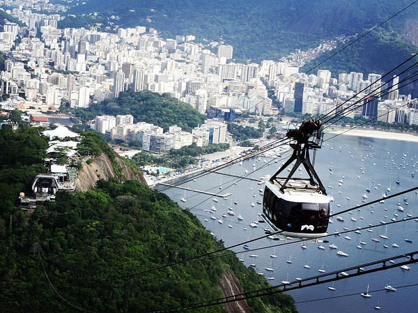 Rio Overview by Cattura - Photo taken in a gondola going up to Sugar Loaf, Rio de Janeiro, Brazil