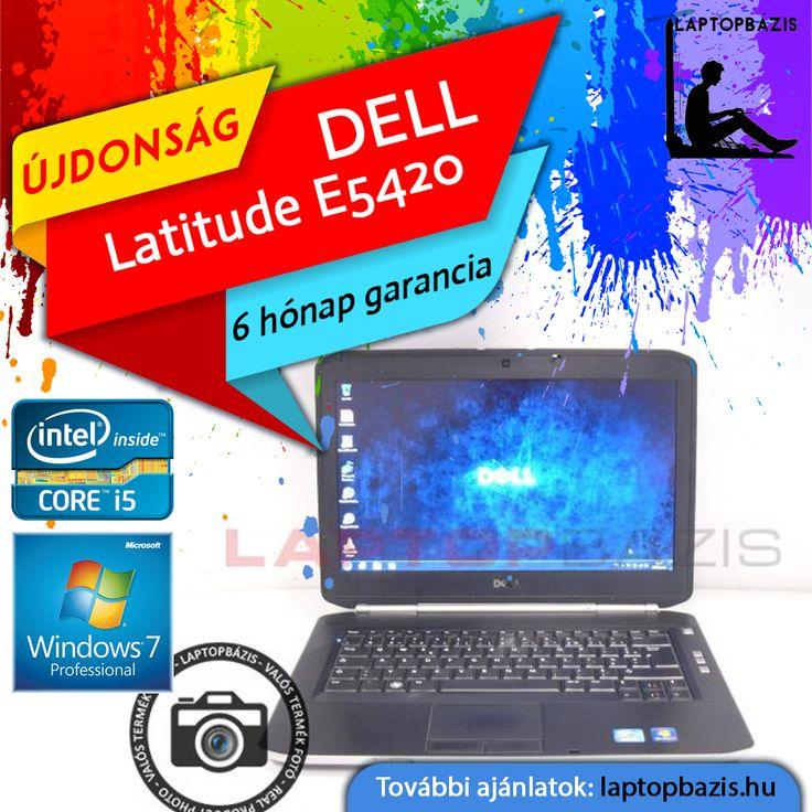 "Dell Latitude E5420 laptop, Intel Core i5-2430M, 4 GB RAM, 320 GB HDD, webkamera, Windows 7 Pro, 14"" HD LED kijelző, Új akkumulátor  Ár: 49 900.- Ft"