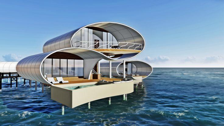 Water Villa in Karimunjawa, Indonesia  #concept3d #design #architecture #doublebedroom #villa #warevilla #designbuilding #exterior #rendering
