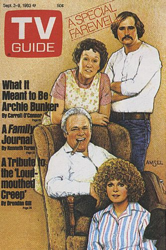 His TV Guide Cover #29: All in the Family, September 3, 1983, illustrated by Richard Amsel