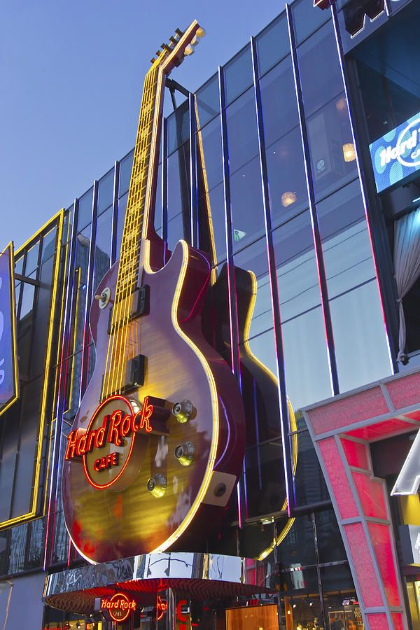 Hard Rock Cafe Photograph - Hard Rock Cafe Entertainment Center Las Vegas Nevada by Gino Rigucci