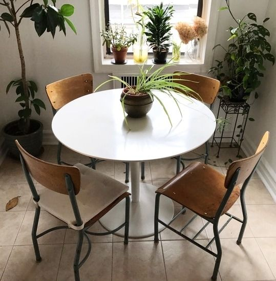 Shopping secondhand means you can save a ton on furniture like this like-new CB2 dining table!