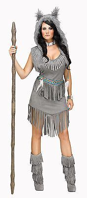 Adult Wolf Dancer Native American Indian Princess Costume
