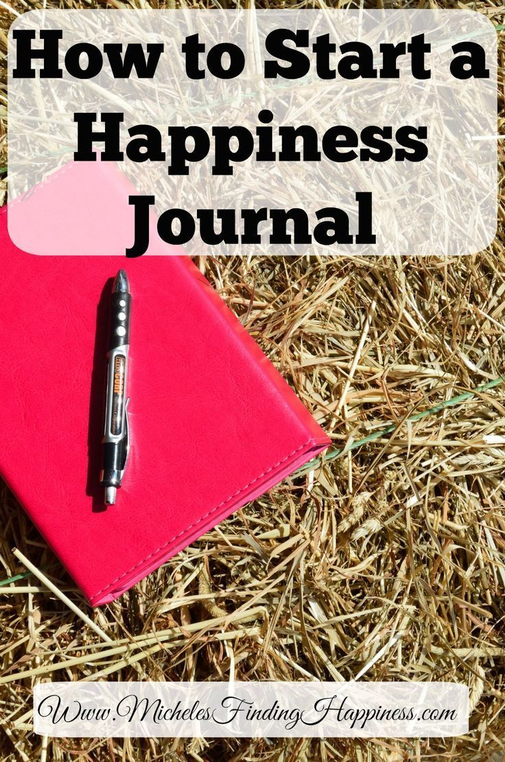 Learn how you can start your own happiness journal. It's not hard and it will make you happy! 10 minutes a day to your happiness.